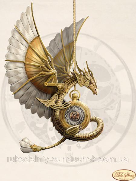 Схема для вышивания бисером Tela Artis Стимпанк. Дракон ТА-291