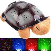 Ночник «Черепашка», проектор звездного неба Twilight turtle +USB шнур!!, Скидки
