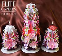 Свечи Розовые орхидеи. Декоративные ручной работы