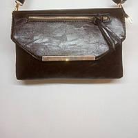 Удобная женская сумочка через плечо (цвет кофе)