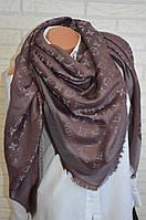 Стильный платок женский в стиле Louis Vuitton Monogram с люрексом