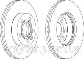 Тормозной диск ferodo (производство Ferodo ), код запчасти: DDF1010