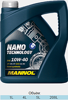 Полусинтетическое моторное масло Mannol Nano Technology 10W40 SM/CF 5L