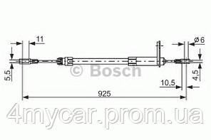 Трос ручного гальма (производство Bosch ), код запчасти: 1987477220