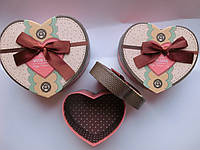 Подарочные коробки набор 3 шт сердце мал