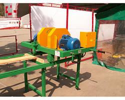 Кромкообрезной станок, продольно обрезной 2х7,5 кВт до 160 мм для бруса