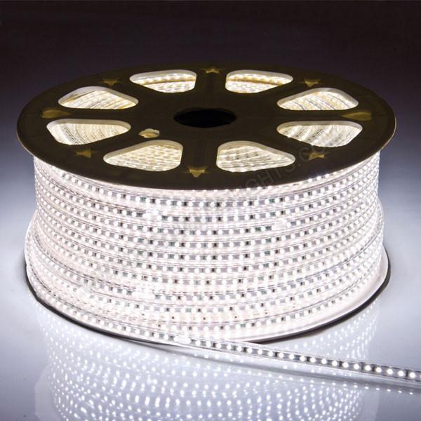Світлодіодна стрічка smd 2835-120 220В IP68 біла Premium