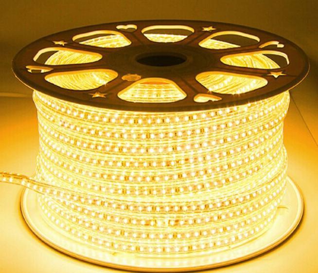 Светодиодная лента smd 2835-120 220В IP68 теплая