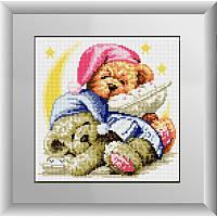 Рисование квадратными камнями «Спящие мишки» Dream Art 30003 (24,5 х 24,5 см) на холсте
