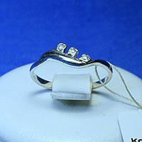 Срібне кільце з маленькими камінчиками кс 70, фото 1