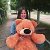 Красивый плюшевый медведь Бублик 100 см (коричневый)