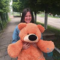 Красивый плюшевый медведь Бублик 100 см (коричневый), фото 1
