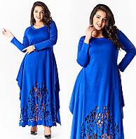 Платье трикотажное длинное в расцветках 14452