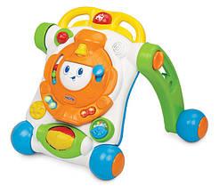 Развивающие и обучающие игрушки «Weina» (2142) ходунки-каталка Паровозик (звук. эффекты)