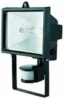 EUROELECTRIC Прожектор с датчиком движения черный