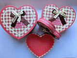 Подарочные коробки набор 3 шт сердце большие, фото 2