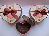 Подарочные коробки набор 3 шт сердце большие, фото 3