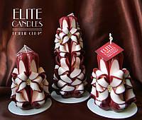 Набор резных свечей ручной работы, для интерьера на подарок