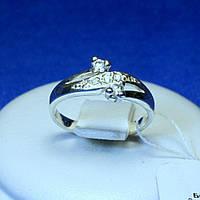Женское кольцо из серебра с камнями фианита кс 579