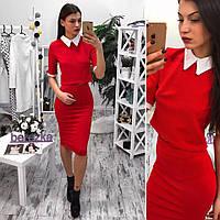 Костюмчик блузка с воротничком+юбка карандаш разные цвета