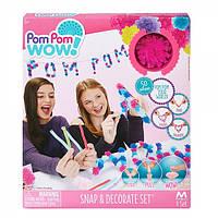 Игровой набор Pom Pom Wow! - ФАНТАЗИЯ (50 помпонов, 5 цветов, аксессуары)