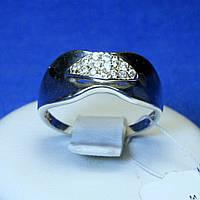 Кольцо с фианитом из серебра кс 752