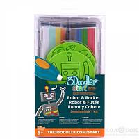 Набор аксессуаров для 3D-ручки - РАКЕТА 48 стержней, 2 шаблона 3Doodler Start