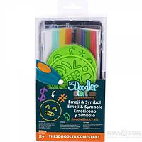 Набор аксессуаров для 3D-ручки - ЭМОДЖИ 48 стержней, 2 шаблона 3Doodler Start