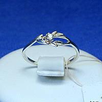 Серебряное кольцо с камушком фианита кс 935