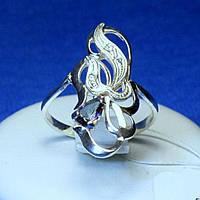 Серебряное кольцо с цирконием (имитация мистик топаза) кс 1152мис топ