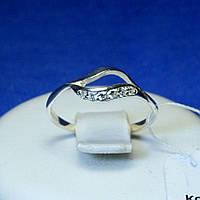 Серебряное кольцо с кубическим цирконием кс 1254