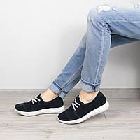 Кроссовки женские Nika темно синие замша, обувь дропшиппинг