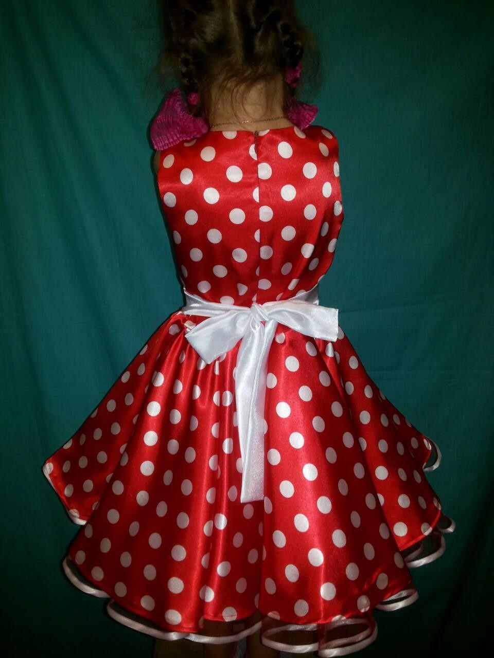2abbfe8a819 Детское платье красное в белый горох   продажа
