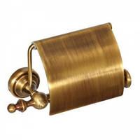 """Держатель туалетной бумаги с крышкой """" Richmond"""" (латунь/bronze) R 217001"""