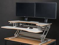 StiyStil Solid White HPL Эргономичная надставка на стол для работы стоя и сидя