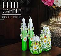 """Свечи для подарка и украшения интерьера с табличкой """"Любимой мамочке"""""""
