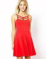 Новое красное платье с декоративными ремешками New Look
