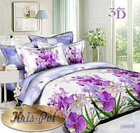 """Полуторный комплект постельного белья """"Орхидеи""""."""