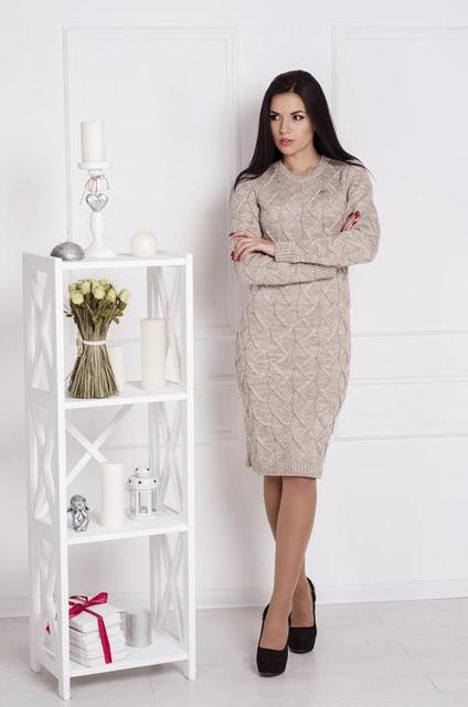 Платье вязаное Зигзаг (4 расцветки)