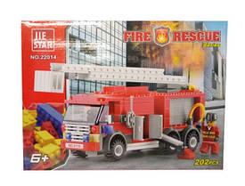 Конструктор Пожарная техника, 202 дет. 22014 р.28,5 * 5,5 * 19 см