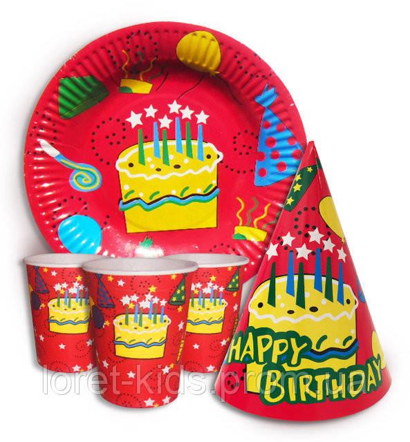 """Набор для детского дня рождения """" Тортик """"."""
