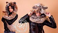 Волко-шапка меховая с ушками 114 (ФР)