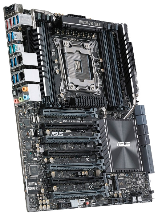 "Материнская плата Asus X99-E WS/USB 3.1 DDR4 s.2011-3 Intel X99  ""Over-Stock""  Б/У"