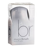 Мягкая щетка для щадящего расчесывания волос id Hair Magic Brush Silver