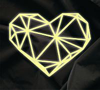 Объемный декор  Сердце кристалл