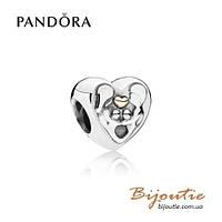 Pandora шарм  СЕРДЦЕ СЕМЬИ #791771 серебро 925 Пандора оригинал