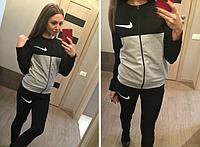 Молодежный женский спортивный костюм trendy nike на змейке.Черный.
