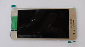 Дисплей с сенсором Samsung A300 Galaxy A3 Gold оригинал, GH97-16747F