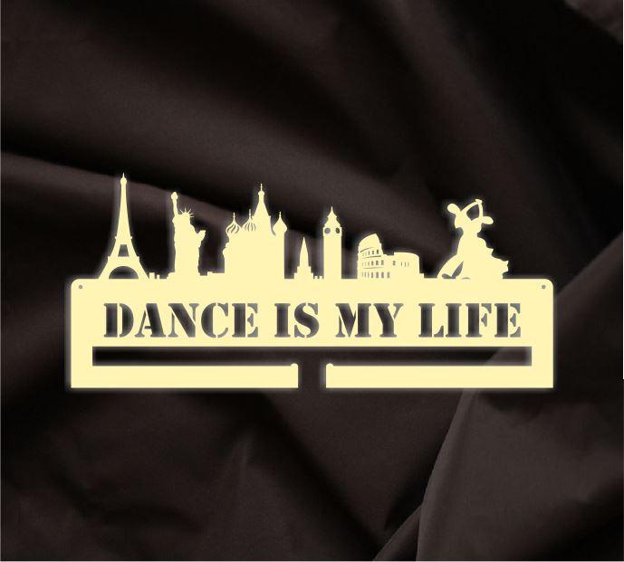 Медальница Dance is my life