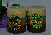 Ароматизированная Свеча Olive цилиндр 70х90 мм